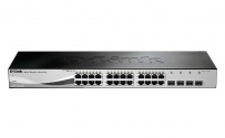 DGS-1210-28 24x10/100/1000BaseT ports + 4x1000BaseT/SFP ports Gigabit Smart Switch