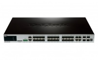DGS-3420-28SC 20xSFP + 4xCombo GE/SFP + 4x10GE/SFP+ Ports xStack Layer 2+ Stackable Managed Gigabit Switch