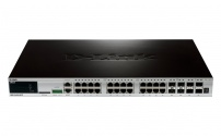 DGS-3420-28TC 20x10/100/1000 + 4xCombo GE/SFP + 4x10GE/SFP+ Ports xStack Layer 2+ Stackable Managed Gigabit Switch