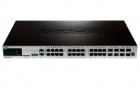 DGS-3620-28TC/SI 20x10/100/1000 + 4xCombo GE/SFP + 4xSFP+ Ports xStack Layer 3 Stackable Managed Gigabit Switch