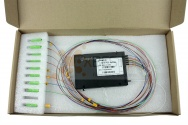Splitter PLC SC/APC OPTO, SM 0.9mm, 1x10, 1m (ABS BOX)